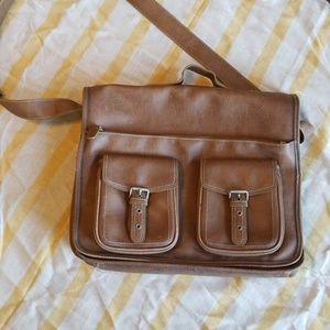 Handbags - Leather crossbody briefcase